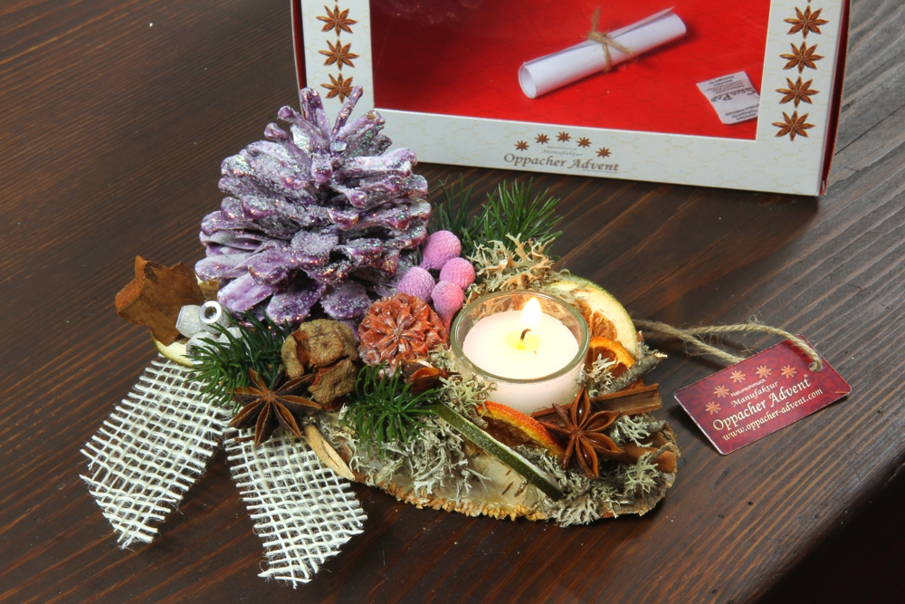 das oppacher tischgesteck weihnachtsgeschenke und. Black Bedroom Furniture Sets. Home Design Ideas